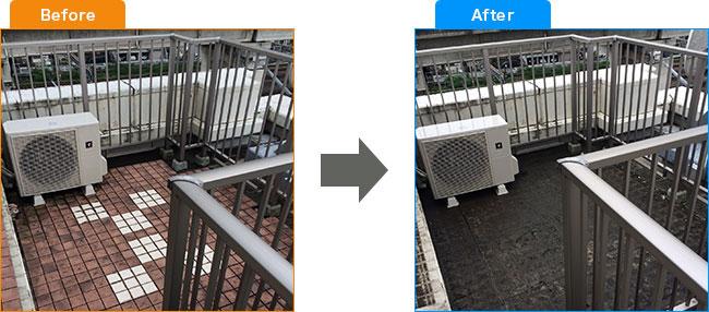 ベランダ植木処分・観葉植物処分・土・プランター処分 Before,After 4