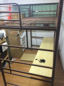 江戸川区でロフトベッドの解体回収を行いました。